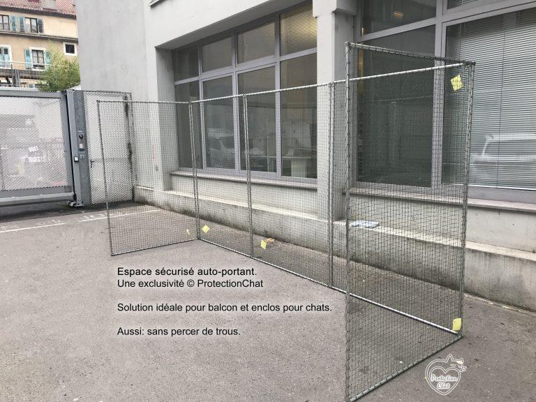 Structure auto-portante pour balcon
